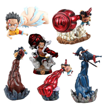 6 Style Anime One Piece GK Gear 4 Luffy PVC Action Figure Edward Newgaet Toy for Children Collection Birthday Gift model fans one piece 28cm mr 1 daz bones gk resin figure toy for collection handicrafts
