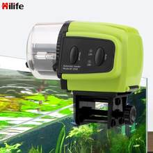 Hilife alimentador de peixes portátil ferramentas alimentação de alimentos 1 pcs automático temporizador de peixes alimentador display digital plástico casa aquário