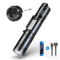 WUBEN L50 Led Taschenlampe 1200 Lumen USB Aufladbare Taktische Taschenlampe 18650 Batterie Lichter Wasserdichte IPX8 Tragbare Camp Laterne