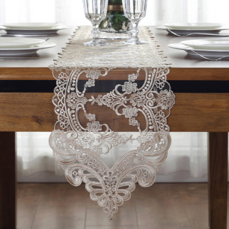 Top Luxury European Table Runner Elegant Lace Decorative Tablecloth Romantic Piano Cover Tea Tablecloths Dining Table Covers