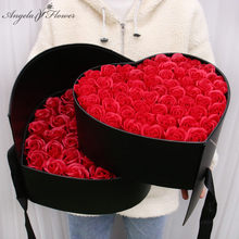 Boîte-cadeau Double couche rotative créative, boîte de rangement pour emballage cadeau, Rose artificielle, savon, cadeau de mariage, pour la saint-valentin