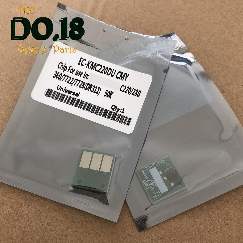 4PCS DR311 DR 311 DR-311 Circuito Integrato del Tamburo Per Konica Minolta Bizhub C360 C280 C220 C220 C 220 280 360 unità di imaging di Reset