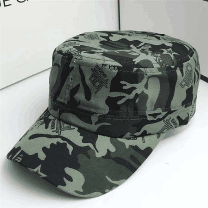 Pria Wanita Kamuflase Outdoor Climbing Bisbol Cap Hip Hop Hat Cap Topi Militer Pria Berjemur Topi untuk Wanita Bisbol cap
