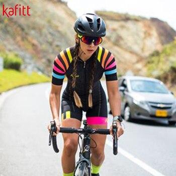 Kafitt 2020 pro camisa de ciclismo profissional das mulheres triathlon casual wear maillot ropa ciclismo macacão verão 1