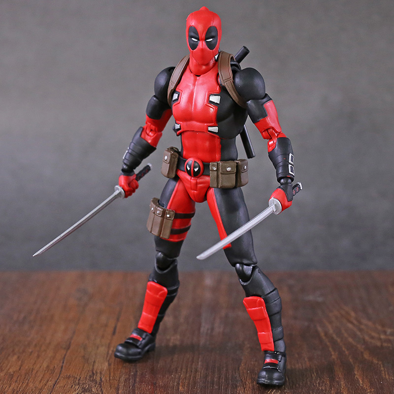New X-Men Deadpool Mafex 082 Comic Version Action Figure Collectable Model Toy Doll Gift Doll image