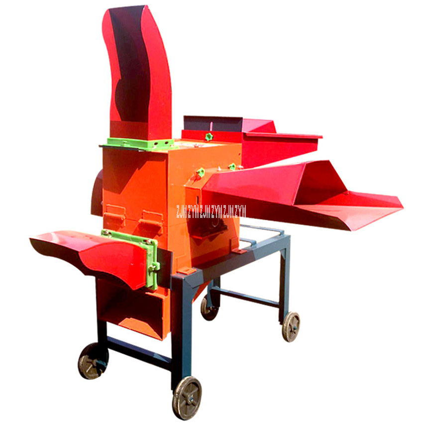 5-Cutter Head 220/380V 4KW Wet And Dry Hay Chaff Cutter Forage Crop Crusher Feed Processing Crop Straw Rubbing Filament Machine