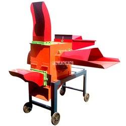 5-cabezal de corte 220/380V 4KW cortador de paja húmeda y heno seco trituradora de cosecha de forraje Procesamiento de alimento paja máquina de filamento de frotamiento