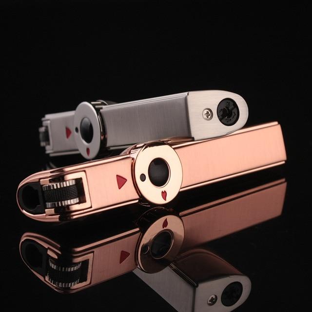 Jobon One Triple Torch Lighter Metal Windproof Gas Butane Jet Flint Lighter 3 Nozzles Turbo BBQ Cigar Spray Gun Gadgets For Men 6