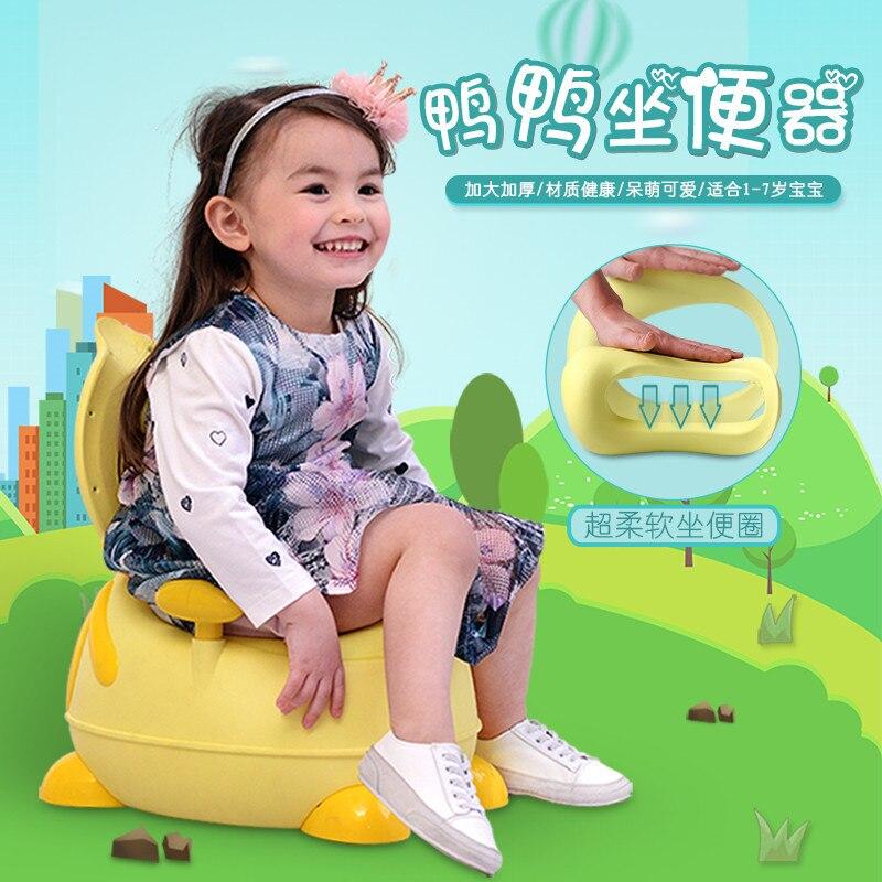 Cartoon Little Duck Armrest Toilet For Kids Backrest-Infant Bucket Baby Chamber Pot