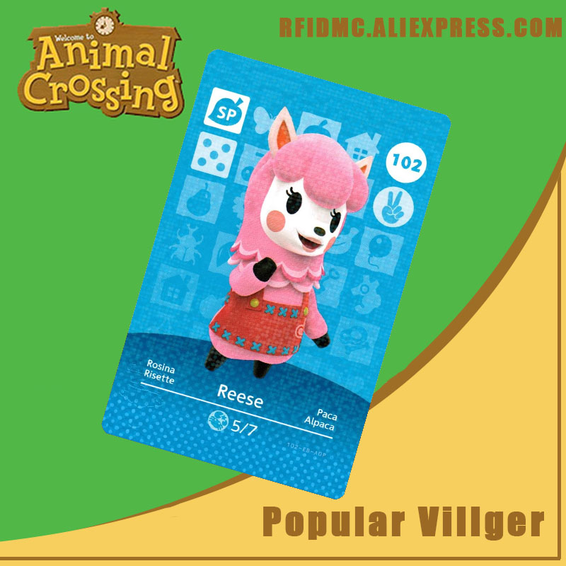 102 Reese Animal Crossing Card Amiibo For New Horizons