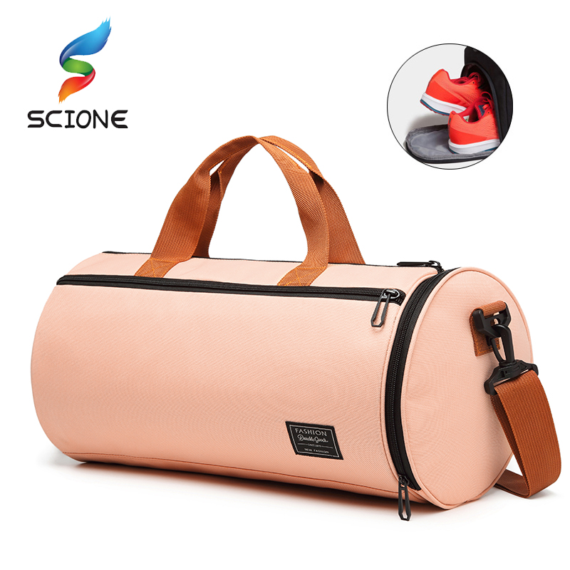 Scione 2019 Women Yoga Gym Bag Sport Fashion Pink Wet Dry Separation Waterproof Diagonal Fitness Bag 4 Color
