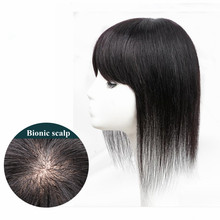 Halo Lady Beauty 30cm Fringe Hairpiece Indian Non-Remy Hair Straight Neat Bangs Invisible Clip Hair Bangs For Hair Volume