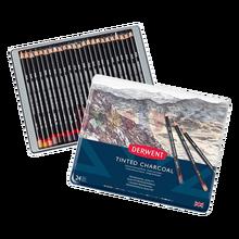 Crayons De Couleur teintés en charbon De bois, fournitures d'art pour dessin à la main, artiste professionnel, 24 couleurs, 2301691