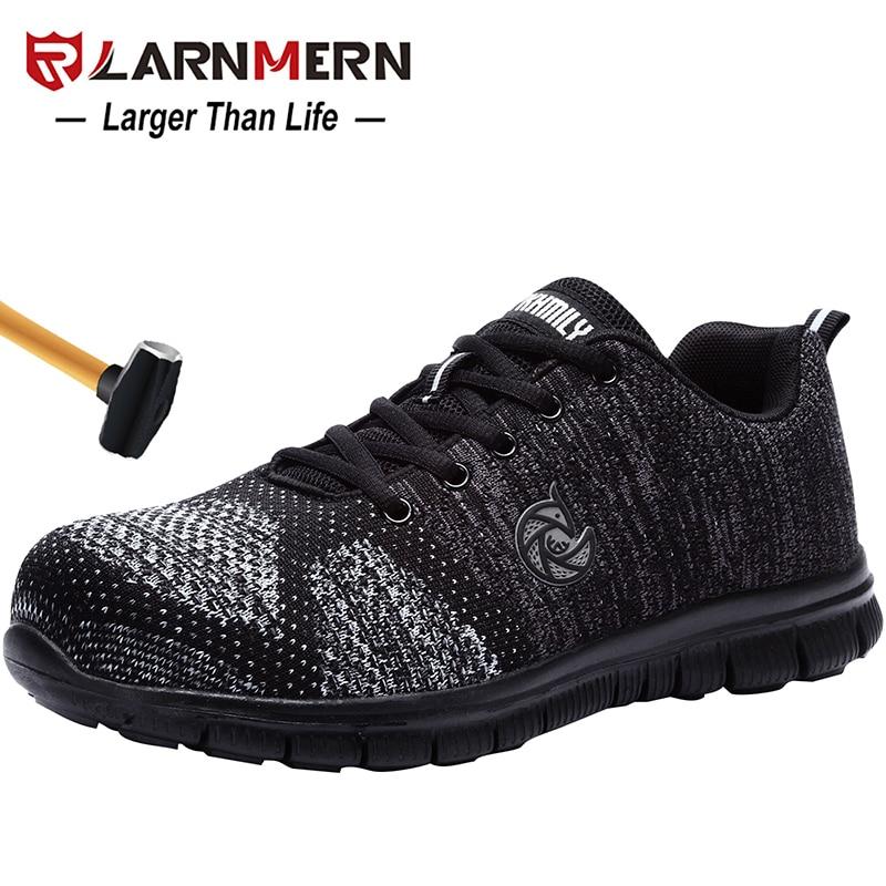 LARNMERN ผู้ชายทำงานรองเท้าเพื่อความปลอดภัย STEEL TOE น้ำหนักเบา Breathable Anti Smashing ลื่นป้องกันการก่อสร้างรองเท้า-ใน รองเท้าบู๊ทนิรภัยและทำงาน จาก รองเท้า บน AliExpress - 11.11_สิบเอ็ด สิบเอ็ดวันคนโสด 1