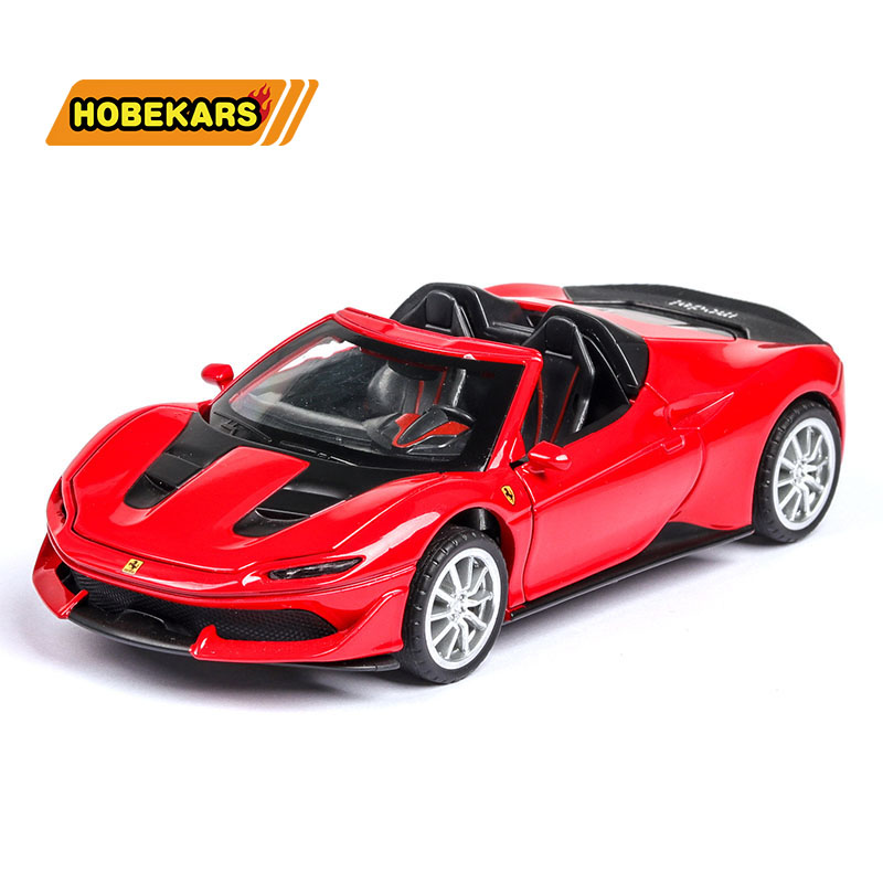 Diecast Model Car Hood J50 Sport-car 1:32 Metal Alloy High Simulation Cars Lights Boys Toys Vehicles Gifts For Kids Children