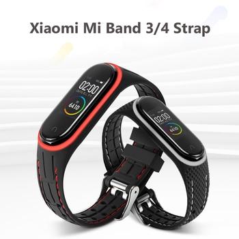 for Mi Band 5 4 3 Strap Silicone Wrist Strap For Xiaomi Mi Band 3 4 Bracelet Miband 3 4 NFC Accessories Smart Mi band4 Correa цена 2017