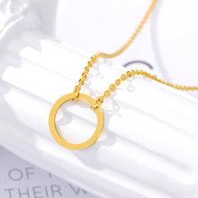 Винтажные Изящные Круг ожерелье для женщин и девочек нержавеющая