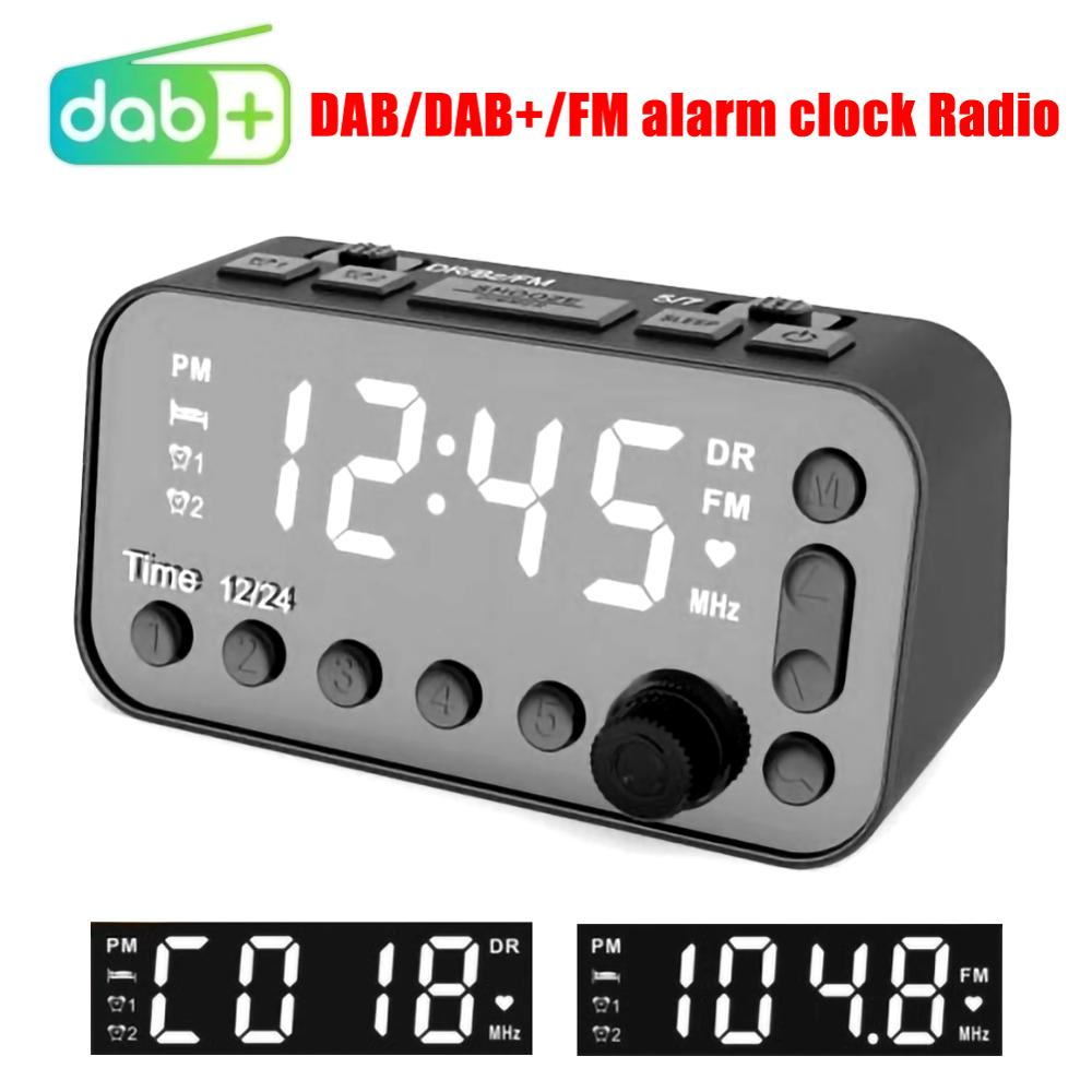SALE Stereo Audio Simple Use DAB/FM Clock MP3 Radio Player With Dual Alarm Setting Double USB DC 5V 2A MP3WMA Car Radio Player