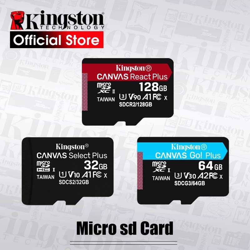 Kingston Cartão Micro SD GB Class10 16 carte sd memoria 64 32 GB Mini Cartão SD GB Tf UHS-I cartão de Memória de 128 GB Para O telefone Móvel