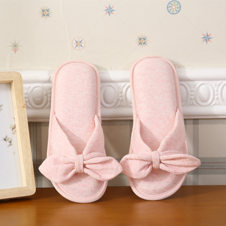 Spring And Summer Peep-Toe Cross Belt Home Slipper WOMEN'S Slippers Cute Ladies' Bow Anti-slip Slipper Summer Household