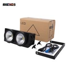 2 gözler 200w LED soğuk, sıcak beyaz COB DMX512 sahne aydınlatması için Led Bar KTV düğün DJ disko etkisi ışık SHEHDS