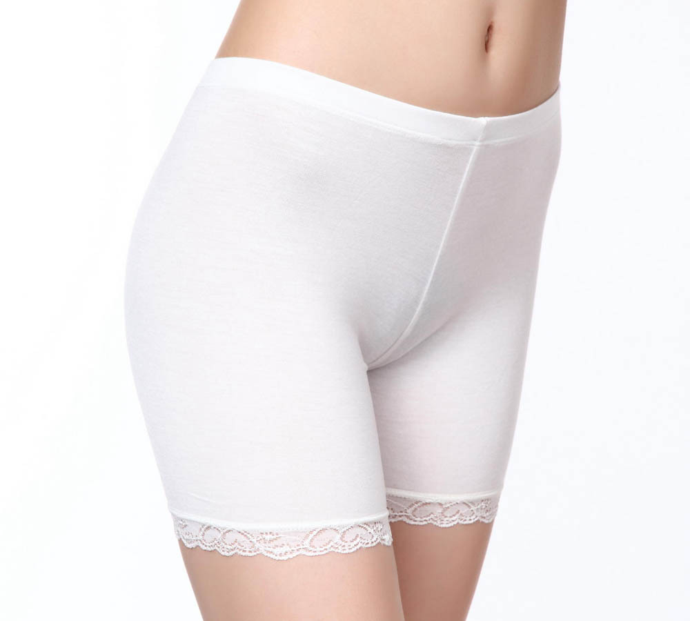 Black white <font><b>beige</b></font> color Summer Mid Waist <font><b>Sexy</b></font> Solid Breathable Boyshorts Panty For Lady party <font><b>dress</b></font> safety boyshorts M-3XL image