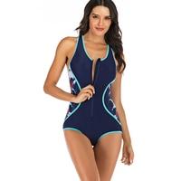 2019 Rashguard Printed One Piece Swimsuit Short Sleeves Swimwear Woman Surfing Bathing Suit Rash Guards Sexi One Piec Swimsuit