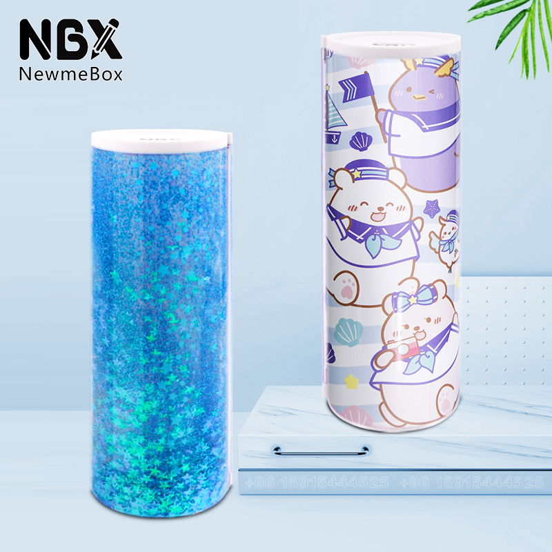 School Accessories Pencil Case For Kids Standing NBX Newmebox Pencilcase For Boys Girls Transparent Pen Holder With Calculator