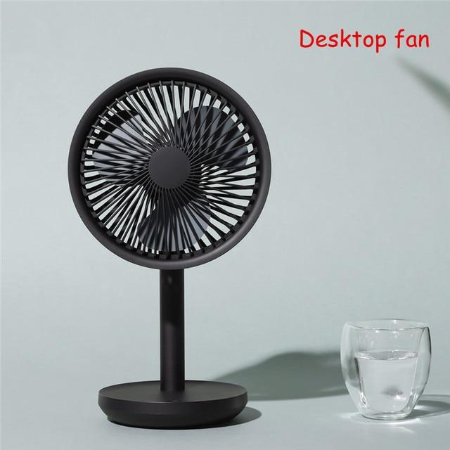 Настольный вентилятор SOLOVE с вибрационной головкой, 60 градусов, 4000 мАч, USB, перезаряжаемый, 3 режима, скорость ветра, охлаждение, Осциллирующий вентилятор, черный/розовый