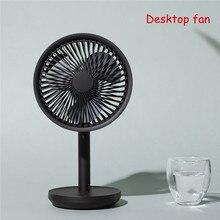 SOLOVE Desktop Fan 60 Degree Shaking Head 4000mAh USB Rechargeable 3 Modes Wind Speed Cooling Oscillating Fan Black/Pink