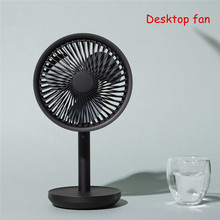 SOLOVE ventilador de escritorio con cabezal móvil de 60 grados, 4000mAh, recargable por USB, 3 modos de refrigeración por viento, oscilante, negro/rosa