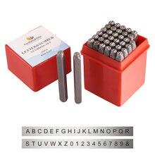 36 pçs/caixa alfabeto de letras de ferro preto, número A-Z e número 0 a 8 selos, conjunto para ensino, joia equipmentf80 ferramenta