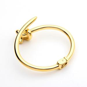 Image 5 - VAROLE Trendy Nail Knot Stainless Steel Cuffs Bracelets Noeud Gold Color Bangle Bracelet For Women Manchette Bangles Pulseiras