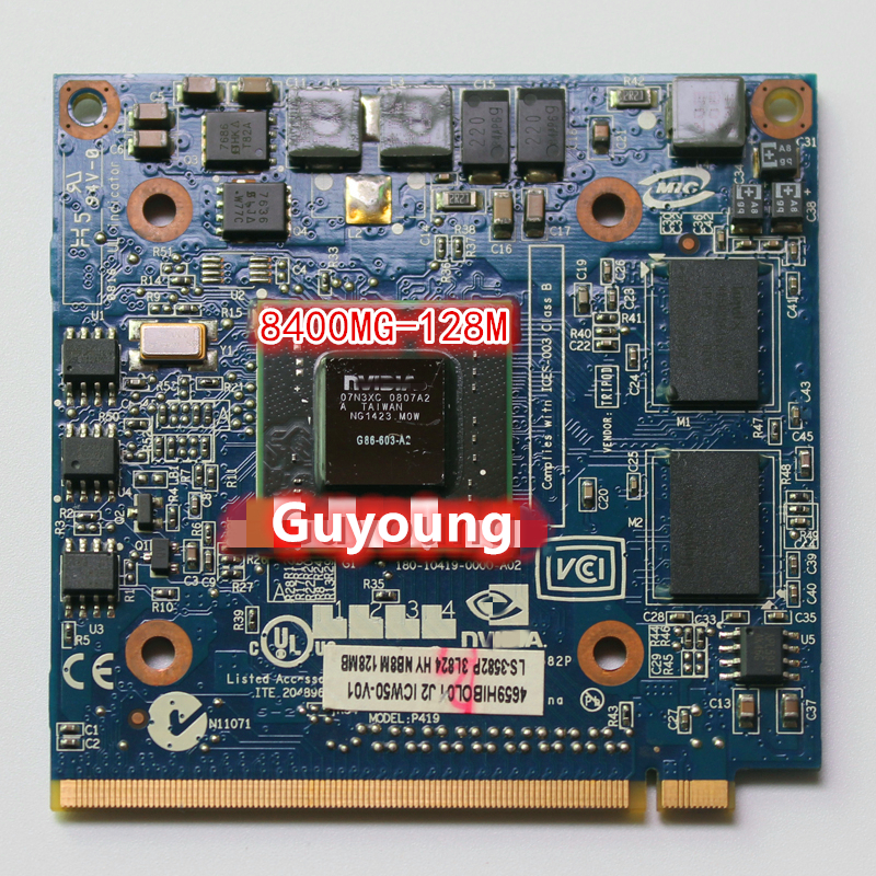 For GeForce 8400M GS 8400MGS DDR2 128MB Graphics Video Card for Acer Aspire 5920G 5520 5520G 4520 7520G 7520 7720G image