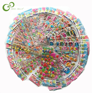 100 sheets Sticker Kids Cute 3D Cartoon Stickers Mixed School Teacher Reward Children Early Learning Toys for Children GYH