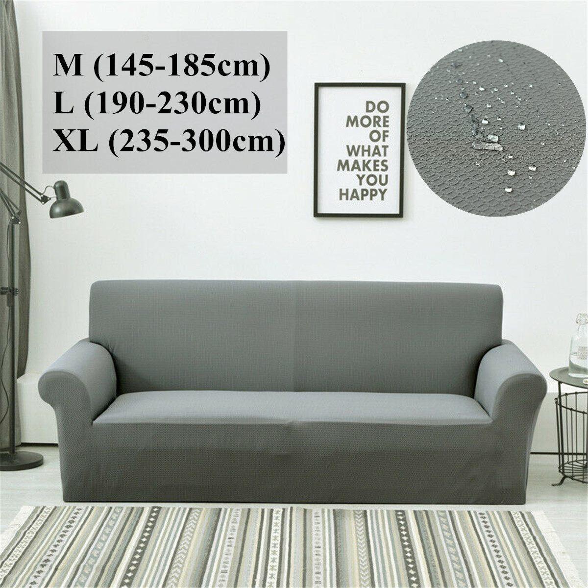 1pc Waterproof Sofa Cushion Sofa Cover  Elastic Sofa Slipcovers Anti-slip Pet Pad Diaper Sofa Towel Universal Nordic Solid Color
