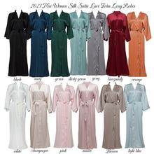 Chiffon Satin Robes Bridesmaid Robes Bride Robe Bridal Robe Women Wedding Long Robe Bathrobe White Robe Satin Robe