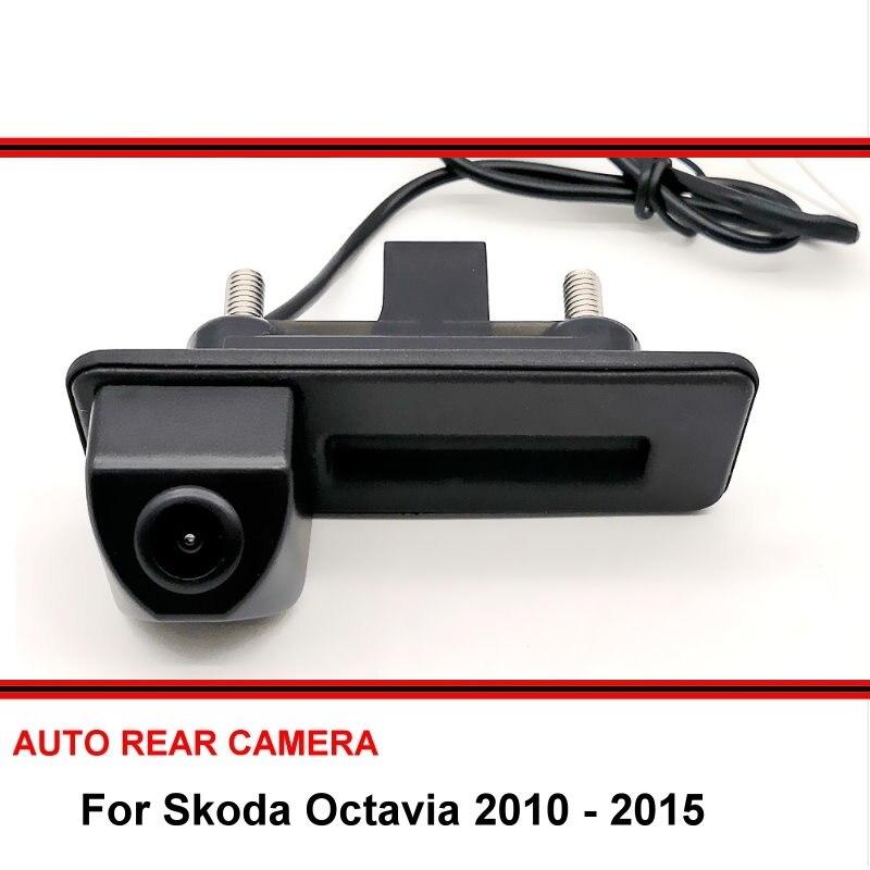 Pour Skoda Octavia 2010 2011 2012 2013 2014 2015 poignée de coffre de voiture caméra de recul Parking caméra de recul étanche