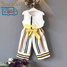 Bear Leader Girls Clothing Sets  Summer Fashion girls sleeveless Splic