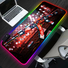 80x30cm CS GO tapis de souris de jeu RGB LED XL grand ordinateur tapis de souris Gamer Star Wars bureau clavier tapis tapis pour PC portable anti-dérapant