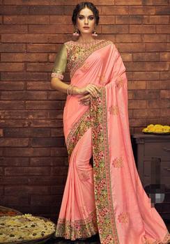 17 ألوان رائع الهندي الساري الهندي للمرأة الجميلة التطريز ساري العرقية النسيج 5