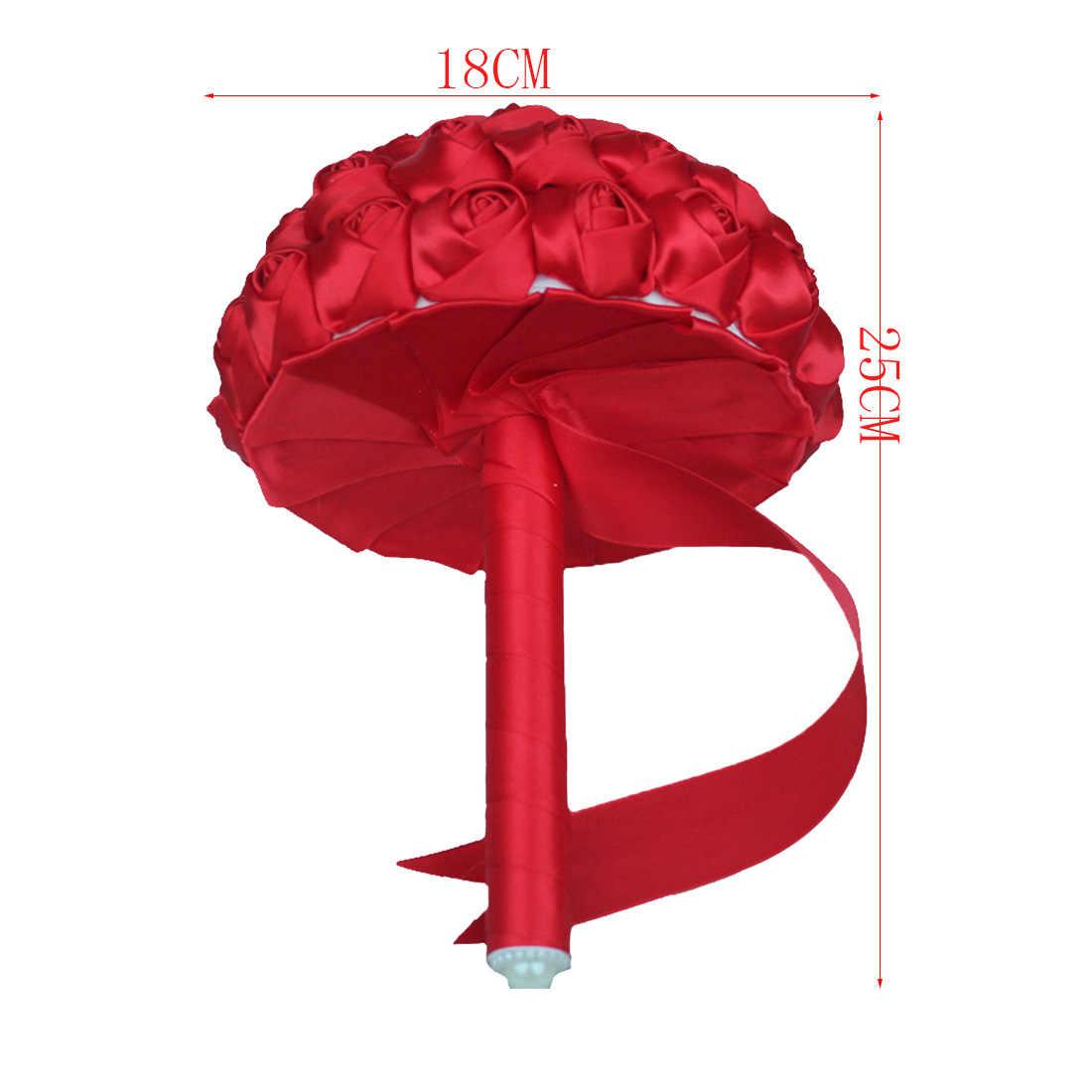 1 pezzo Semplice Crema Avorio di Seta Bouquet Da Sposa Fiori Artificiali Damigella D'onore/Sposa Bouquet Decorazione Su Misura
