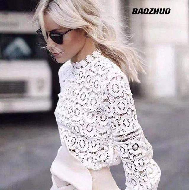 Women's wear 2021 Spring Autumn Good quality lace shirt female long sleeve foreign style inside top and bottom coat 1