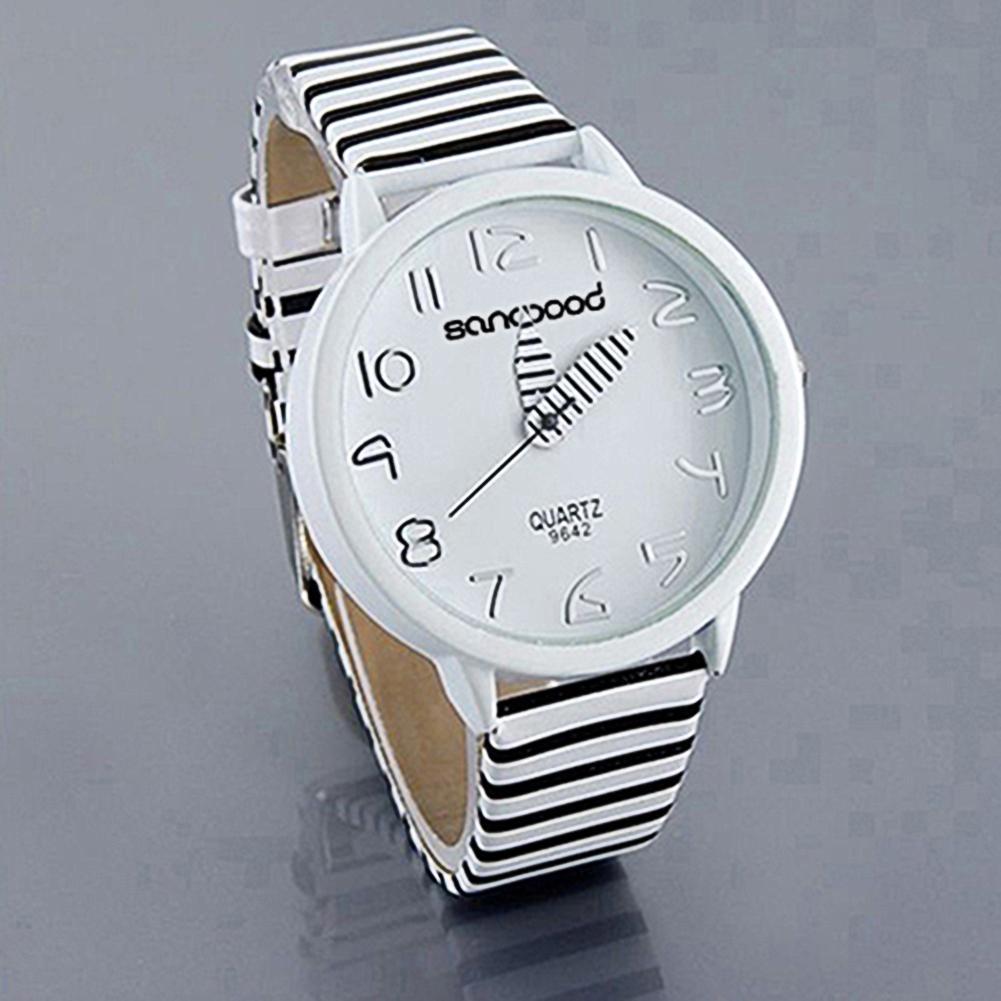 Top Luxury Brand Fashion Color Watch Women Striped Strap Round Case Casual Quartz Analog Wrist Watch Reloj Mujer часы женские