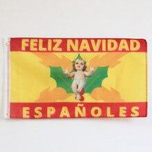 Bandeira da espanha com cruz de borgonha império espanhol cruz de san andrés feliz natal bandeira espanhola 3x5ft 90x150cm