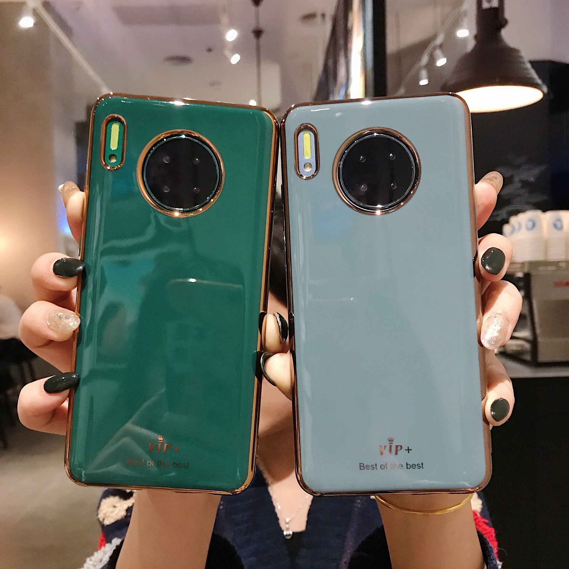 Cases For <font><b>Samsung</b></font> Galaxy A30 <font><b>A50</b></font> S10 S9 Note 10 A70 Electroplated Shockproof Soft TPU Green <font><b>Back</b></font> <font><b>Cover</b></font> For Huawei P30 Mate 30 image