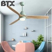 BTX  Reversal Fuction 52 Inch Led Ceiling Fan With Lights For Living Room Ventilateur de plafon Bedroom Cooling Fan Lamp Ceiling Fans    -