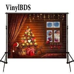 VinylBDS 5 * 7ft tła świąteczne na boże narodzenie fotografia Windows Santa prezent fotografia tło boże narodzenie fundos de fotografia navidad