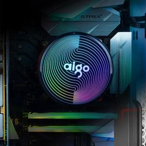 Image 5 - Aigo מעבד קריר 2388ARGB הילה סנכרון 4PIN 5 טהור נחושת חום צינורות הקפאה מגדל קירור מערכת מעבד קירור pwm led rgb מאוורר רדיאטור