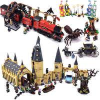 Hagrid Hut Harri zamek dom Mini zwierzęta figurki klocki klocki boże narodzenie legoinglys zabawki dla dzieci prezenty